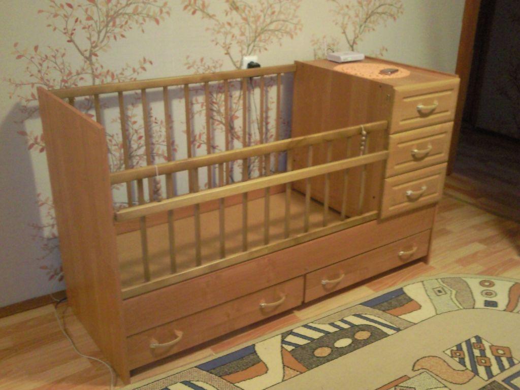 Детские кроватки с комодом фото