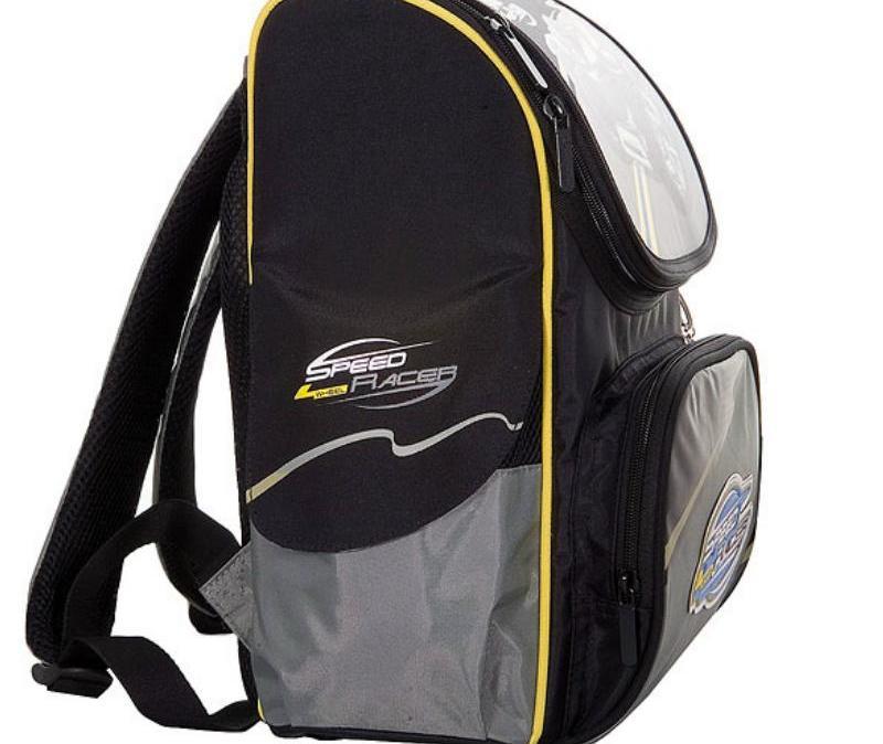 Школьные рюкзаки и ранцы. черный серый.  P055.  Hummingbird.
